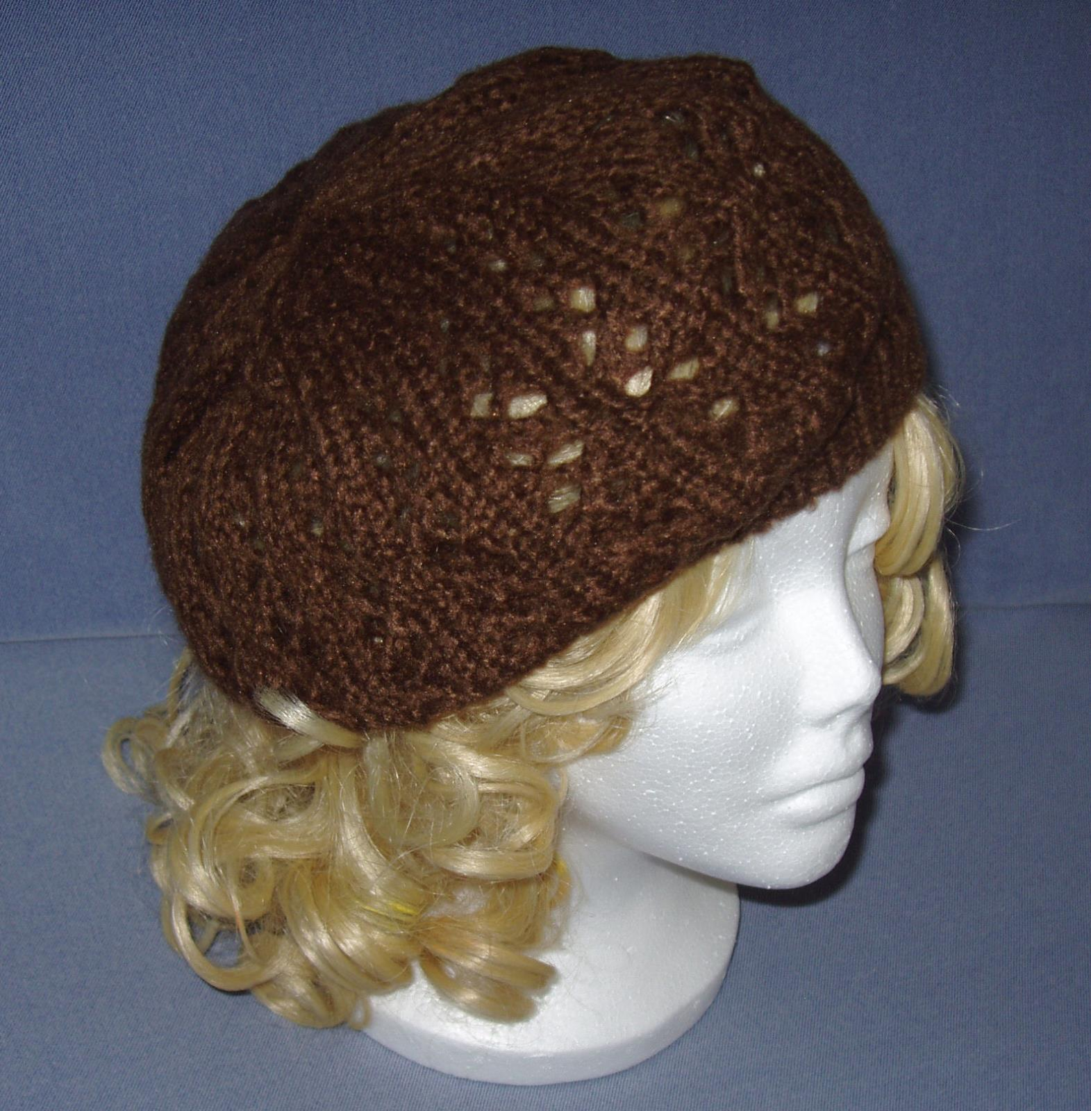 Trendy Womens Knitted Lacy Hat French Beret Cap ~ New~